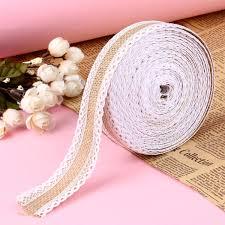 lace home decor aliexpress com buy 10m hessian jute lace craft ribbon natural