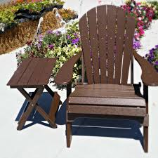 fan back amish all weather adirondack chair solid brown u2014 dutch