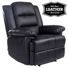 Leather Recliner Chair Uk Loxley Leather Recliner Armchair Sofa Home Lounge Chair Reclining