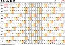 excel calendar 2017 uk 16 printable templates xlsx free