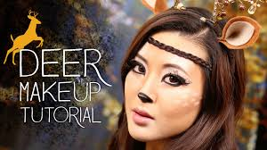 cute deer makeup tutorial halloween youtube