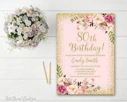 80th birthday invitations 80th birthday invitation any age women birthday invitation