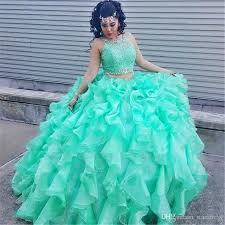 green quinceanera dresses mint green gown two quinceanera dresses organza ruffles
