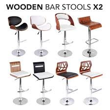 Lift Chairs Perth 2x Designer Gas Lift Wooden Bar Stools In 8 Styles Buy Sets Of 2