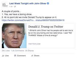 John Oliver Memes - the immoral minority donald trump attempts to shame john oliver