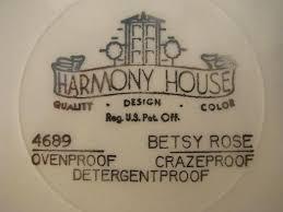 harmony house betsy vintage harmony house sears china pink roses tray w handles