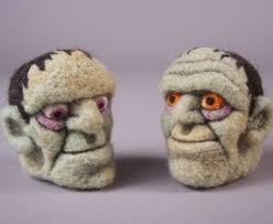 felted frankenstein ornament