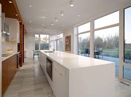 white kitchen island contemporary home in edmonton canada