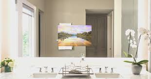bathroom cool mirror tv for bathroom decorating ideas