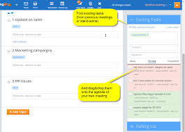 Robert Rules Of Order Meeting Agenda Template by New Easily Add Existing Tasks To Your Agenda With Meetingking