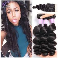 pics of loose wave hair peruvian loose wave human hair 3 bundles with lace closure remy