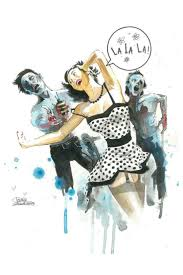 Zombie Pinup Shower Curtain by 453 Best Art Images On Pinterest Venom Literature And Colors