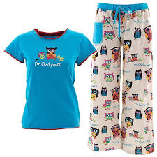 Owl Item by Amazon Com Lazy One I U0027m Owl Yours Pajama Set Clothing