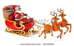 santa claus santa claus sledge deers christmas presents stock illustration