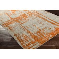 Brown And Beige Area Rug Modern Orange Area Rugs Allmodern