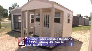 Derksen Portable Finished Cabins At Enterprise Center Youtube Shop South Mississippi Country Folks Portable Buildings Rent