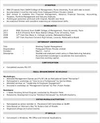 Resume For Internship In Finance Finance Resume Templates 28 Free Word Pdf Documents Download