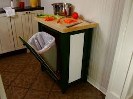 kitchen island trash a kitchen cart with trash bin will help you keeping your house
