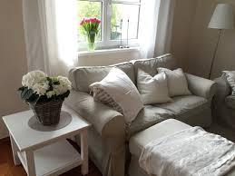 ikea livingroom beige cream white ektorp flowers and arstid