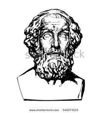 ancient greek poet homerhand drawn vector stock vector 545073523