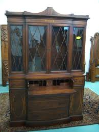 Antique Breakfront China Cabinet by Mahogany Breakfront China Cabinet With Butlers Desk Federal From