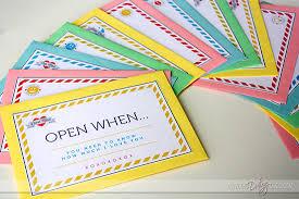Ideas For Letters Open When Letters