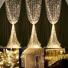 594 leds string lights 6000k warm white wedding string lights