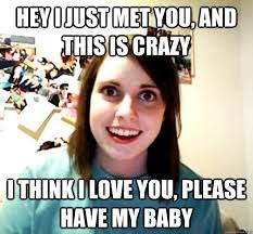 I Think I Love You Meme - hey i just met you and this is crazy i think i love you please