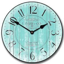 turquoise clock