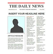 newspaper theme for ppt docs newspaper template templates drive throughout for elegant photo