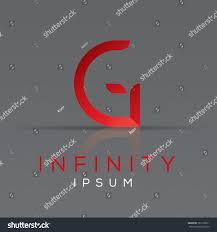 elegant minimal letter symbol alphabet letter stock vector