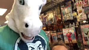 halloween mask talking unicorn head youtube