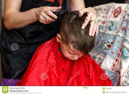 haircut for boy at home with machine stock image image 31005881