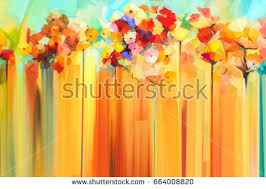 abstract colorful oil painting landscape background stock