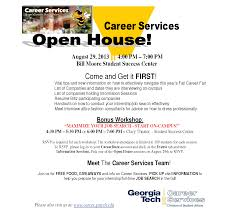 gt hsoc student blog career services open house august 29