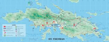 St Johns Florida Map by St Thomas Map St Thomas U S Virgin Islands