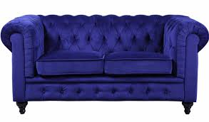 Blue Velvet Chesterfield Sofa by Willa Arlo Interiors Elstone Classic Scroll Arm Tufted Velvet
