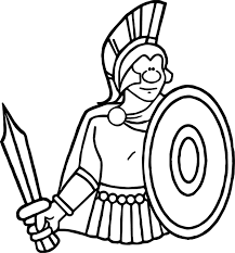 spartan rome ancient coloring wecoloringpage