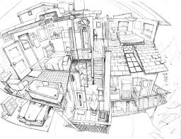 house interior pencil sketch by pesthdelinz sketch pinterest