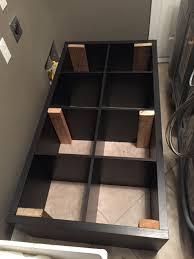 Ikea Garage Shelving by Converting An Ikea Kallax Book Shelf Into A Washer Dryer Pedestal