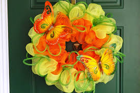 Halloween Deco Mesh Wreath New Orleans Crafts By Design Spring Summer Wreaths