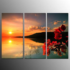 painting for bedroom framed canvas prints sunset flower wall art canvas painting for