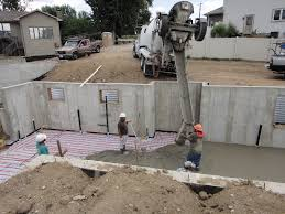 basement concrete slab building a house