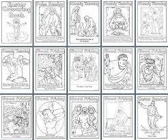 free printable easter colouring book pages including palm sunday