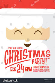 santa claus christmas party invitation card stock vector 523235674