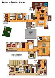 Garden Floor Plan by Terrace Garden Manor A Gatlinburg Cabin Rental