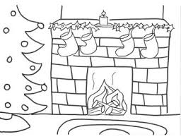 drawn fireplace christmas coloring pencil color