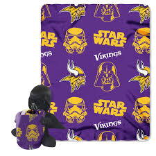 minnesota vikings star wars darth vader hugger u0026 fleece blanket