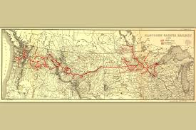 Map Ca Poster Map Of Northern Pacific Railroad Antique Map Railroad