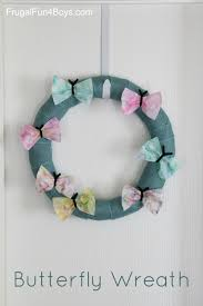 spring butterfly wreath craft for kids